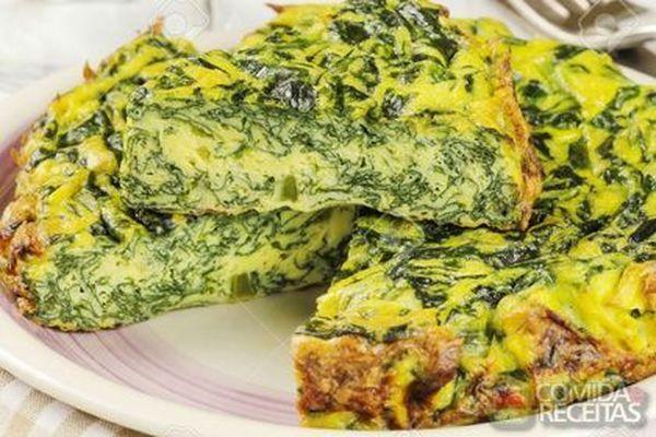 Receita de Fritada de espinafre especial em Ovos, veja essa e outras receitas aqui!