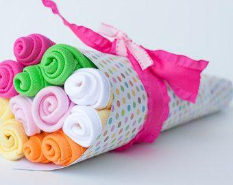 Baby Washcloth Bouquet...Washcloth Bouquet by BeckysBabyCakesandUn