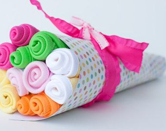 Baby Washcloth Bouquet...Washcloth Bouquet by BeckysBabyCakesandUn