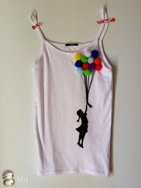 Camiseta de Niña con Globos, Tutorial | Aprender manualidades es facilisimo.com