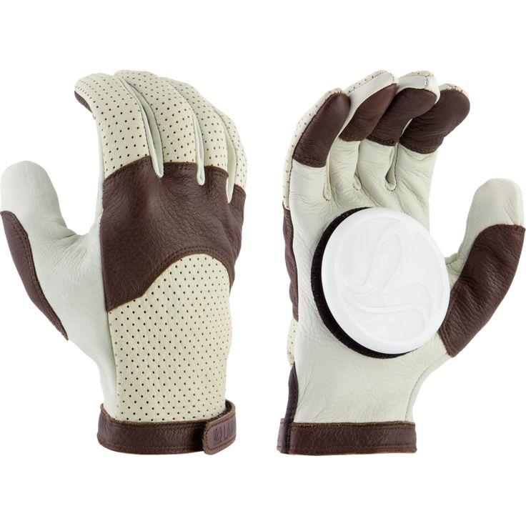 Landyachtz Burley Leather Slide Gloves + Palm Pucks