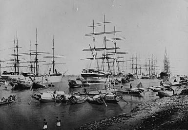 What Was the British East India Company?: British Ships in Calcutta Harbor, c. 1860.