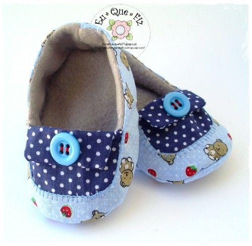 sapatinho de tecido para bebe molde - Pesquisa Google