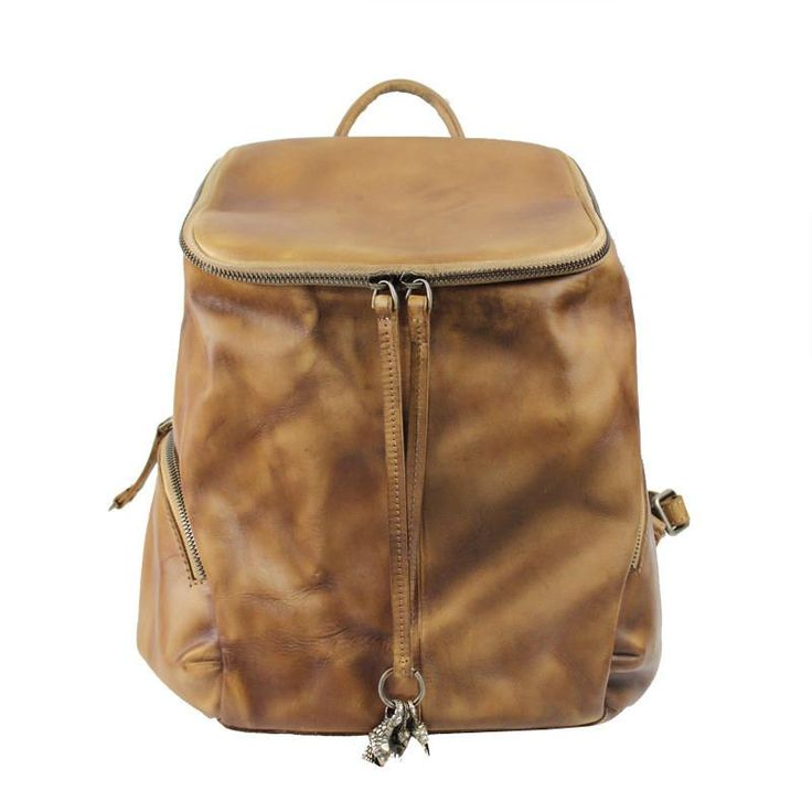 Handmade Full Grain Leather Backpack Women Backpack CF07