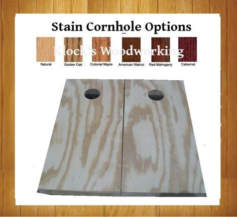 stained cornhole boards - Cornhole Design Ideas