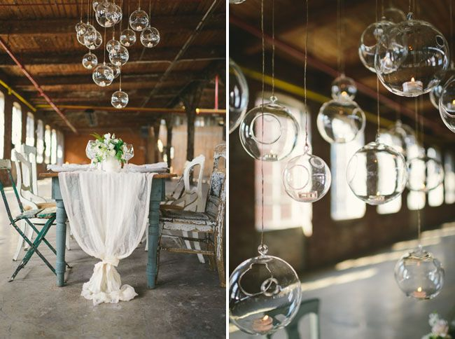 Neutral Wedding Inspiration in a Glass Factory
