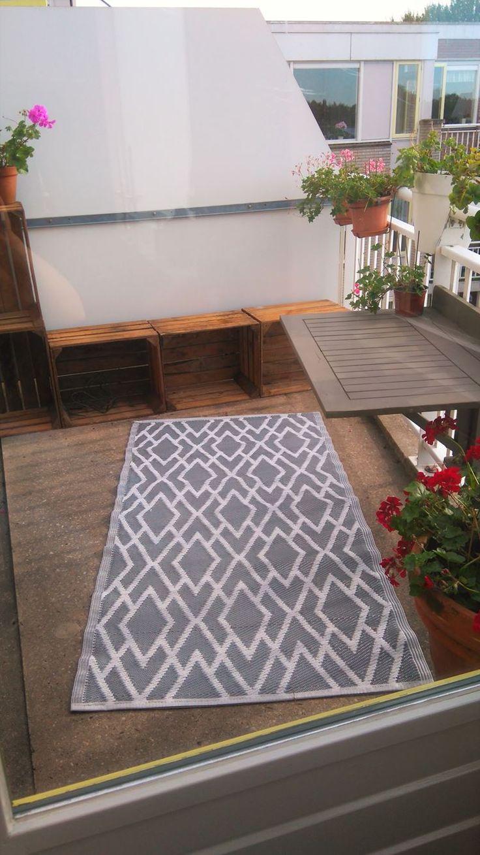 Kunststof tapijt op balkon