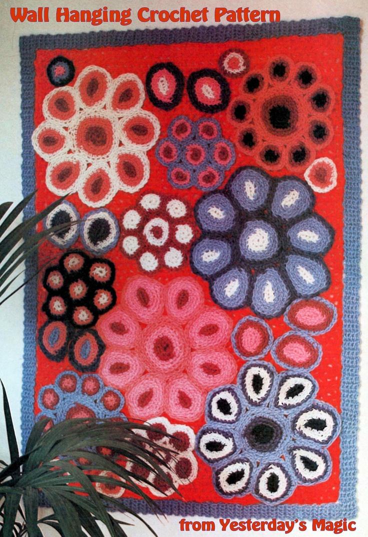 17 best images about crochet art on pinterest embroidery - Crochet mural vintage ...