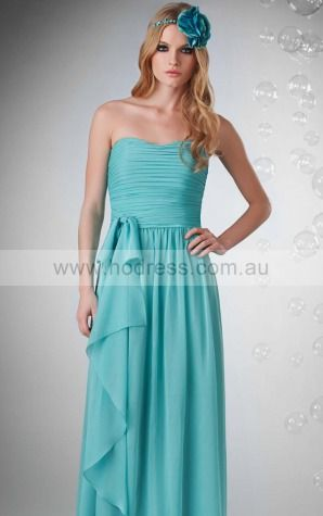 Chiffon Sweetheart Empire A-line Floor-length Bridesmaid Dresses 0740154--Hodress