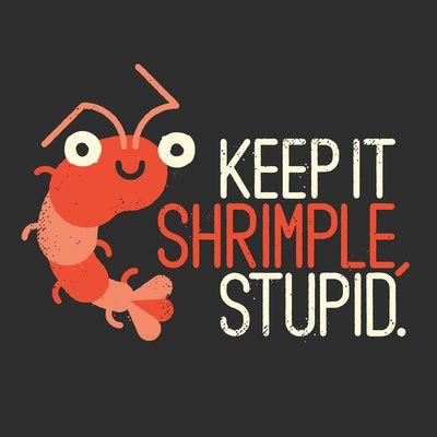 "The Prawn Principle by David Olenick ART PRINT / MINI (8"" X 8"")"