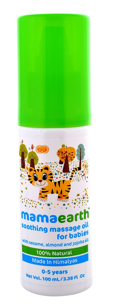 #babyskincare #Newborn #baby #skincare #MassageOil Baby Massage Oil Online - Hi! I am MamaEarth's Soothing Massage Oil for Babies. I know massage time is love time where you strengthen your bond with your baby.