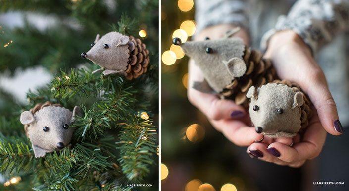 Pripravte si šišky a filc! S týmto návodom si vyrobíte roztomilých ježkov aj vy! Kreatívny DIY nápad - Ježkovia zo šišiek. Vianočné ozdôbky na stromček