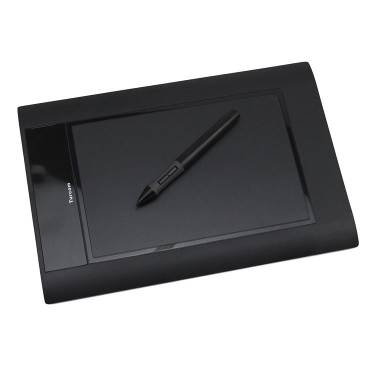"""Turcom 8"""" x 5"""" Huion Graphic Drawing Touch Tablet with Capture Pen #TS-6580b"""