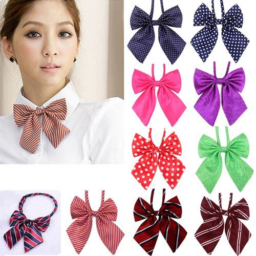 HDE Cute Hot Handmade Polished Look Women's Clip-On Cosplay Bow Tie $2.25