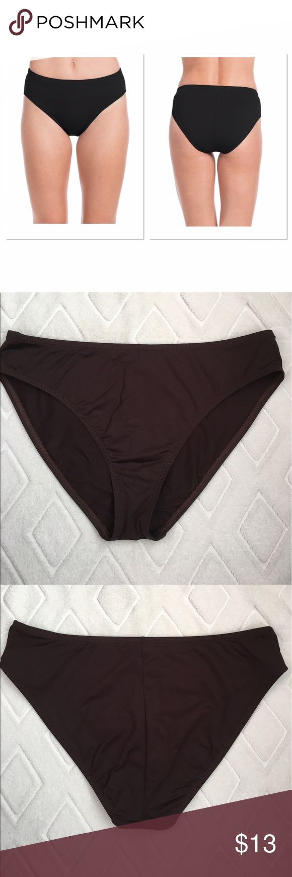 Brown High Waisted Swimsuit Bottom Size 10. Excellent condition! Brown La Blanca Swim Bikinis