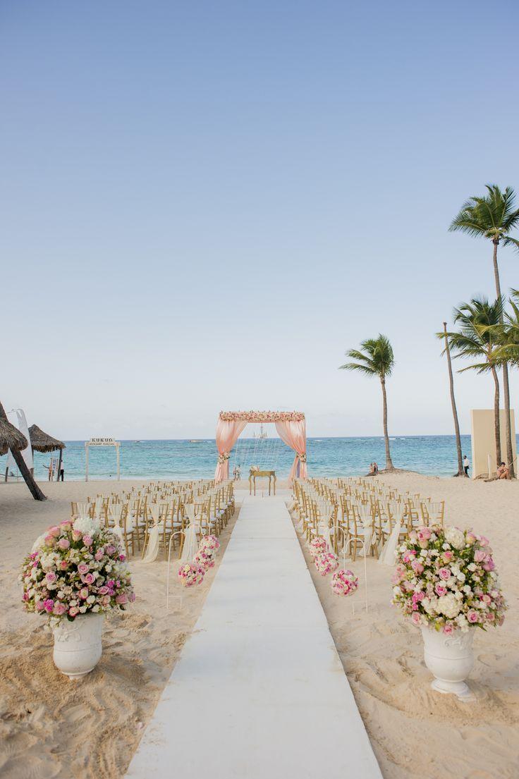 Pink Fl Gazebo Beach Wedding Venue Kukua Punta Cana Design Begokua