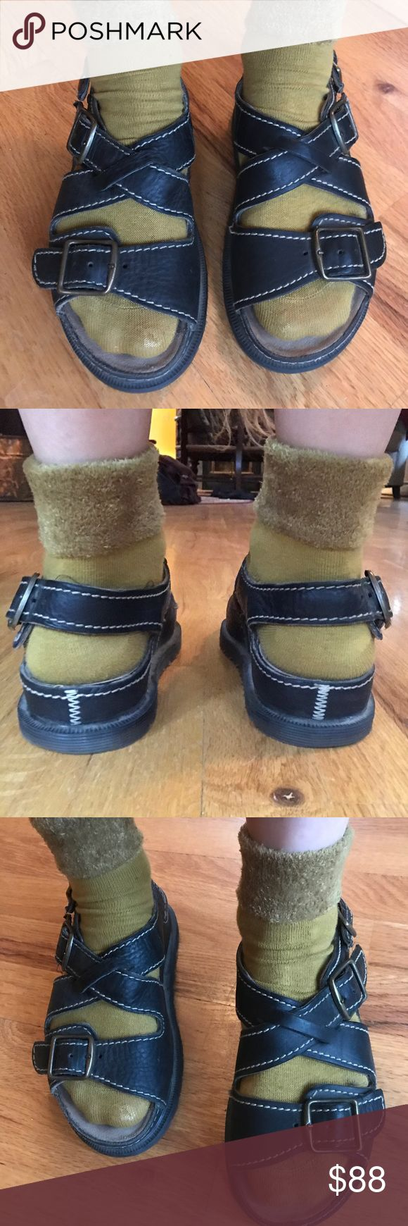 "Pair of Dr. Martens Sandals Made in UK UK 5/US 6 Pair of Vintage Dr. Martens Made in England for sale!!!  UK Size 5/ US Size 6.  In Excellent Shape!!!!  Footbed measures 9.5"" from toe to heel. Dr. Martens Shoes Sandals"