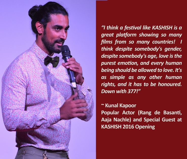 Kunal Kapoor, actor, at #KASHISH2016