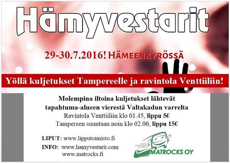 Tämän vuoden Hämyvestareilla bussimme kulki! #matrocks #hämyvestarit