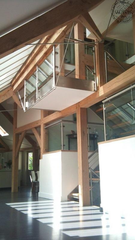 Entrance hall to this house acts as thermal chimney with concrete floor for thermal mass
