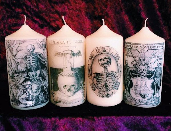 Memento Mori Gothic Death Candles