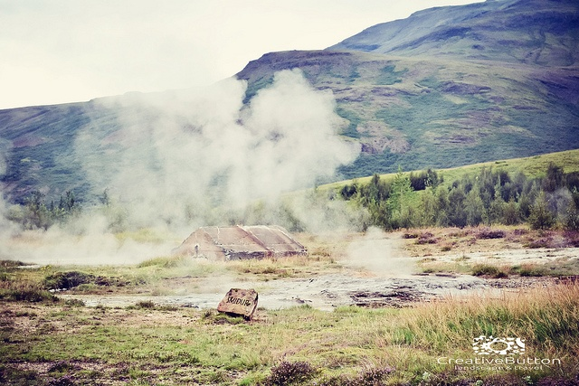 Iceland, 2012. Travel Photography.  The Geysir site on the golden circle.