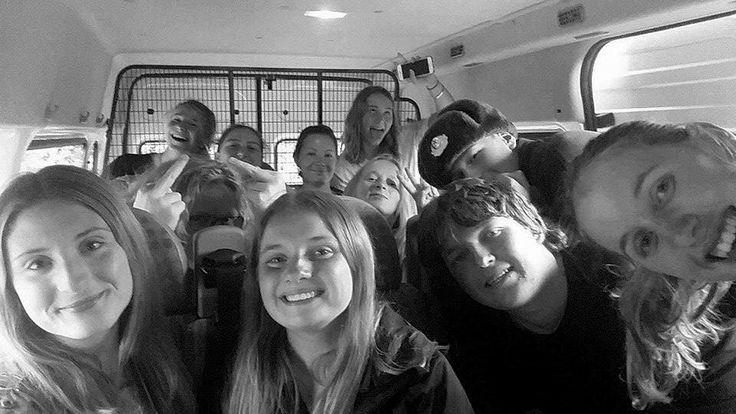The squad in our van ❤️