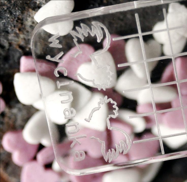 transparentny bloczek do mocowania stempli