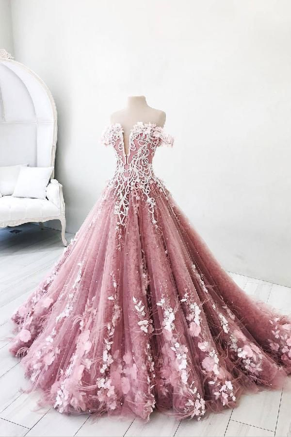 Customized Substantial Pink Wedding Dress Long Prom Dresses Lace Prom Dresses Unique Wedding Dress Gowns Dress Dresses Puffy Prom Dresses Ball Dresses Gowns