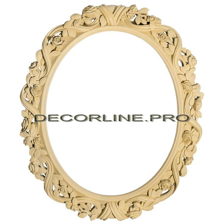 Рамы для зеркал из полимера, полиуретана PE01 Размер: 390x330x25. Резной декор из древесной пасты, древесной пульпы, полимера, полиуретана, ППУ, МДФ, прессованный декор, резной декор из массива, резной декор из дерева