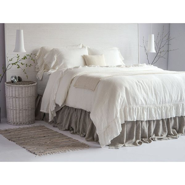 Luxury French Vintage Ruffled Linen Duvet Cover Set 100 European