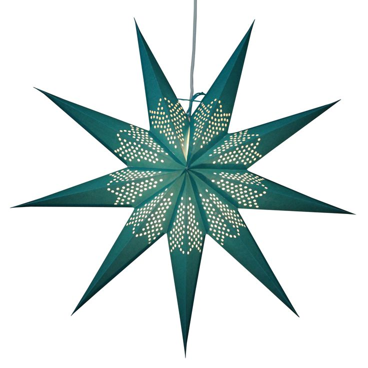 Zeke turquoise Star Lamps http://www.29june.com/index.php/paper-stars.html