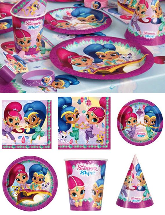SHIMMER and SHINE Party In A Box Kit Kids by CrazyForBalloons