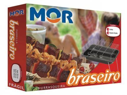 Churrasqueira à Carvão Mor Braseiro Desmontável - com Grelha e 3 Espetos com as melhores condições você encontra no Magazine Mcostadesouza. Confira!