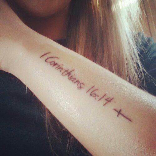 1 corinthians 16 14 tattoo