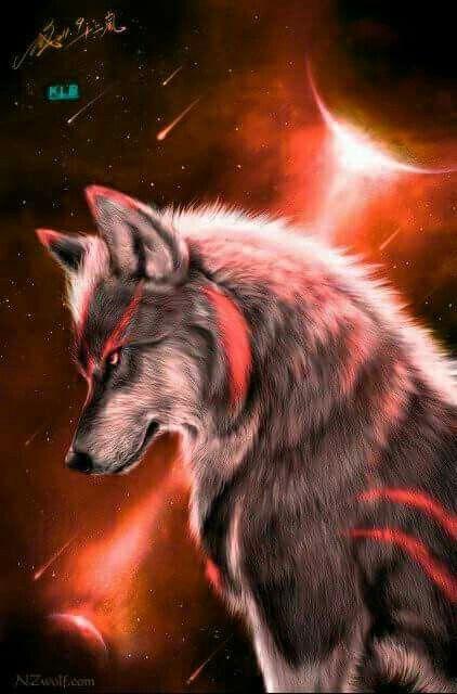 Orange Wolf Wolves Pinterest Wolf Anime Wolf And Fantasy Wolf