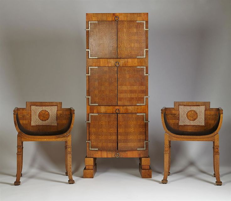 Carl Hörvik, cabinet and chairs — Modernity