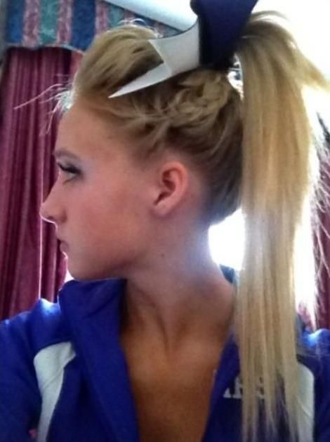 cheer hair side