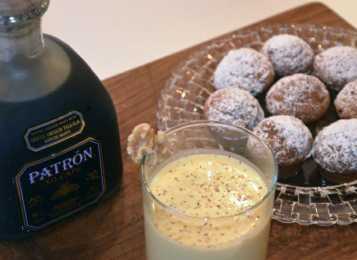 Patrón XO Cafe Eggnog -                 Ingredients: 4 oz Patrón XO Cafe, 2 oz honey liqueur, 1 oz walnut liqueur, 4 cups warm homemade eggnog, freshly grated spices for garnish                                                 Method:  In a large saucepan, combine all ingredients and warm at a medium heat, stirring constantly so the eggnog does not solidify. Serve in a glass punch mug. Garnish with freshly grated spices. #patrontequila #holidayideas