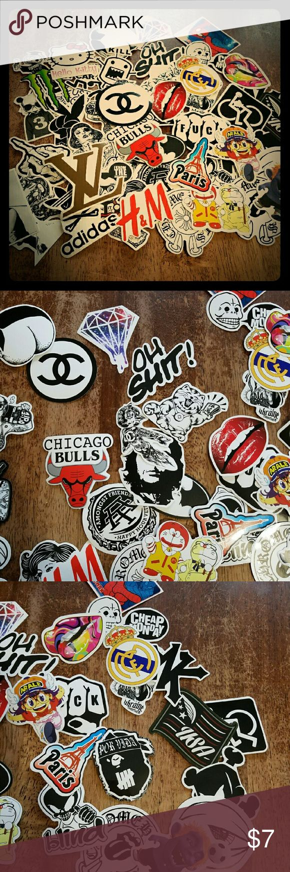Audi r8 partial car wrapping sticker bomb stickerbomb by - 50 Variety Decals Stickerbomb Size 5 10cm Material Pvc Style