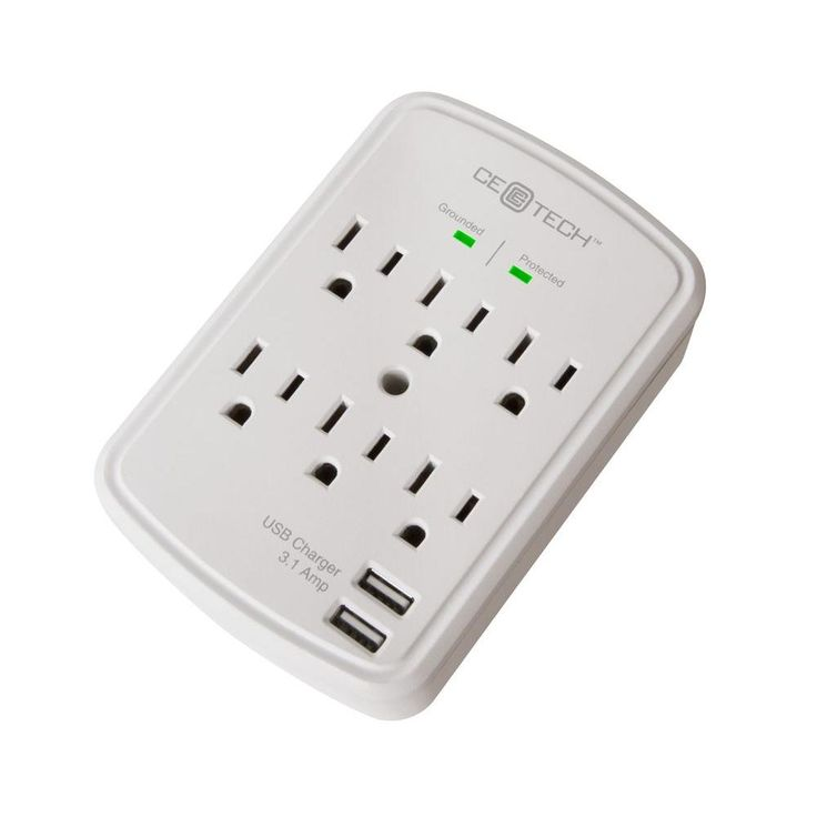6-Outlet USB Wall Tap Surge Protector