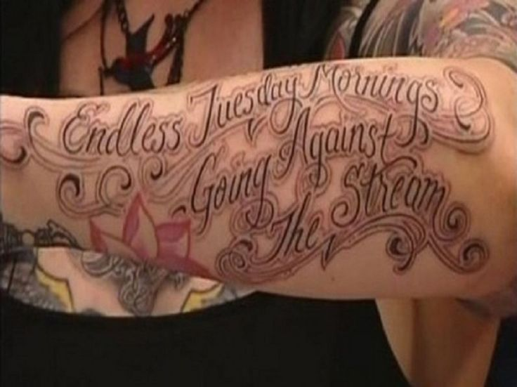 tatto-inspirations: Inspiring LA Ink Tattoo Quote Ideas Pictures : Fas...