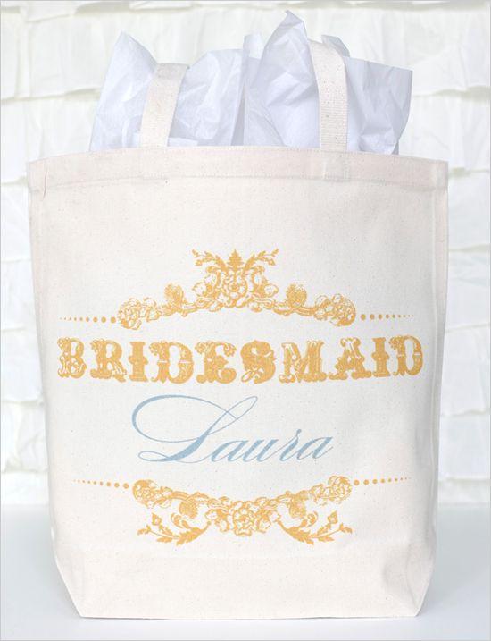 bridesmaid custom wedding totes