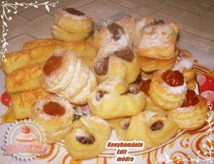 Házi vajas-leveles tésztás sütemények