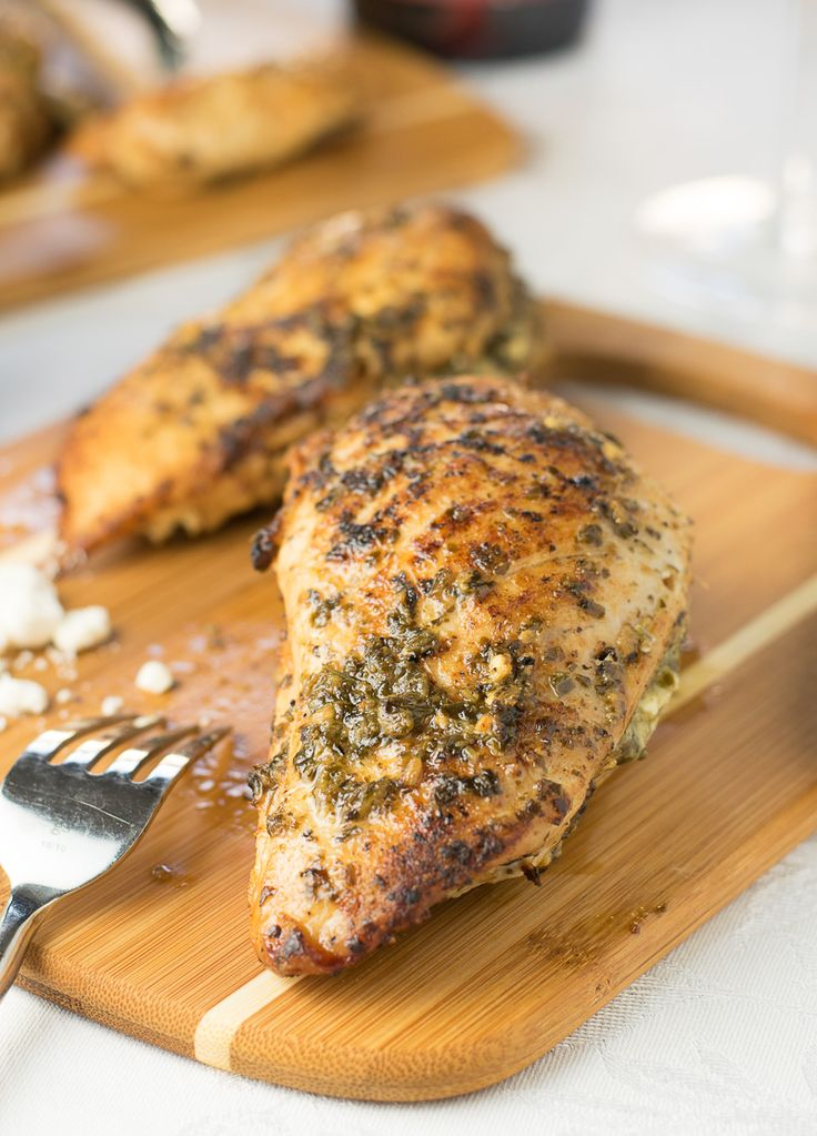 Feta and Pesto Stuffed Chicken Breast