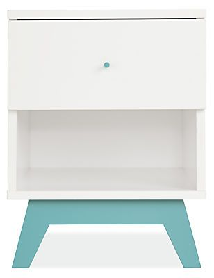 Durable materials meet great modern design in Flynn. Featuring a soft, matte finish and simple, clean lines, our Flynn nightstand is as at home in the nursery as in a kid's bedroom. Handcrafted in upstate New York, Flynn combines solid wood and sturdy, safe MDF, and is available in a range of wood and color options.
