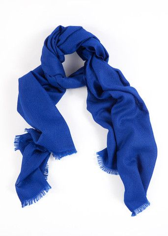 Saphhire Blue 100% Cashmere Shawl:  Enjoy the comfort of this soft and sophisticated cashmere shawl. With rich royal blue tones and a featherlight feel, this weave is a classic look for day-to-day or formal wear.  Features include:      100% Cashmere      Handwoven with French cut ends      Size - 75 x 195 cm      Weight - 175g  Karma Pashmina shawls are authenticated with a Chyangra Pashmina logo. This hallmark guarantees that the highest quality and most genuine cashmere is used.