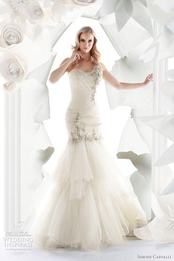 Featured @ http://weddinginspirasi.com/2011/06/29/simone-carvalli-spring-2012-wedding-dresses/
