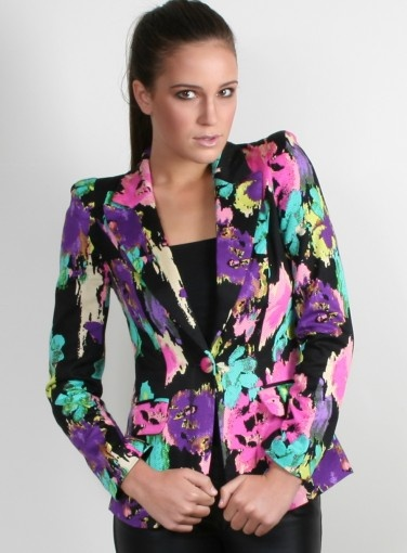 Pandora Print Blazer #honey #newarrivals #prints #jackets #floral #newarrivals #fashion #shop #goshcelebrity #hotstuff