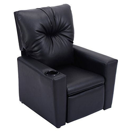 Description: This is our deluxe ergonomic recliner sofa for kids. Constructed by sturdy wooden frame, covered by PU surface, filled with 25D sponge, this Kids Recliner sofa is extraordinarily stable and durable for a long period time to accompany your kids. onvertible to a recliner chair which... more details available at https://furniture.bestselleroutlets.com/children-furniture/chairs-seats/recliners/product-review-for-costzon-kids-recliner-chair-manual-pu-leather-reclining